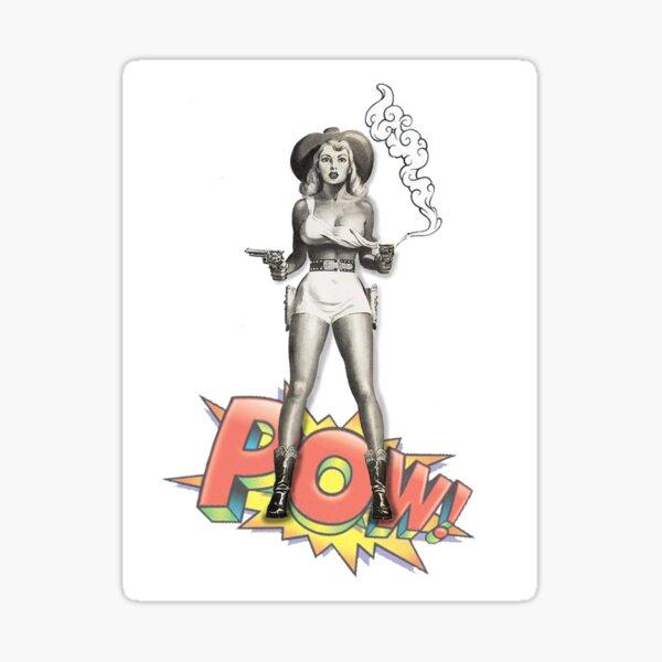 Retro Cowgirl Sticker