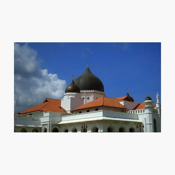 Bright Sky - Malaysian Mosque (1) Photographic Print