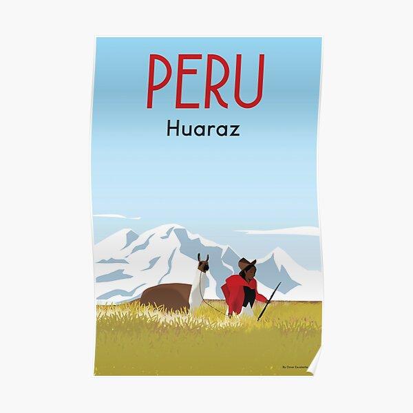 Peru poster, Peru Travel Poster  Poster