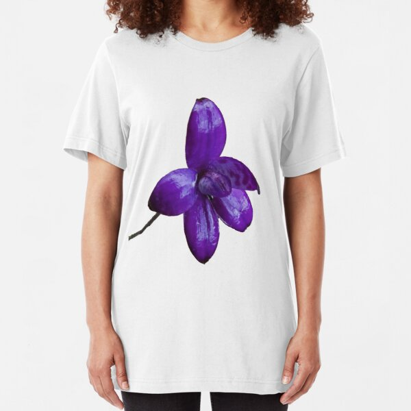 Purple Enamel Orchid Slim Fit T-Shirt