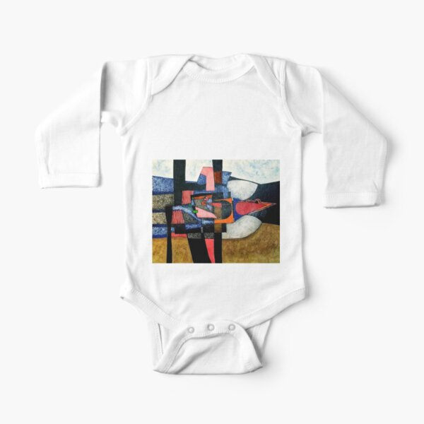 Landscape with Bird Somewhere Therein  Long Sleeve Baby One-Piece
