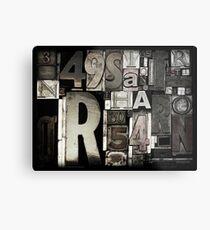 Custom Letterpress Metal Print