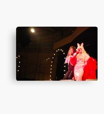 Sophie Brous and Miss Piggy Canvas Print