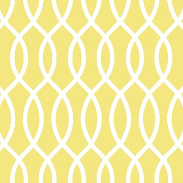 modern,trendy,yellow,white,pattern,elegant,chic,trellis,girly,contemporary pattern by love999