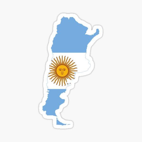 Mapa de la bandera de Argentina Pegatina