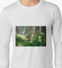 Timberwolf in Forest Long Sleeve T-Shirt