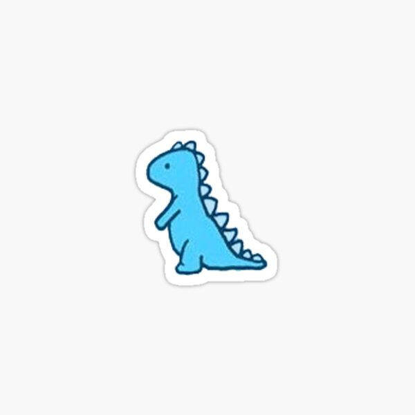little blue dinosaur Sticker