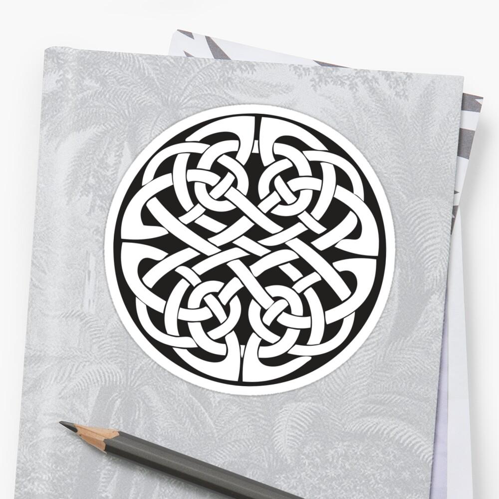 Round Celtic Knot Sticker