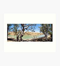 Blanchetown Cliffs Art Print