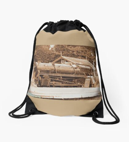 Steam past and present  Drawstring Bag