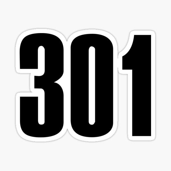 301 Maryland   Phone Area Code Shirts Stickers Sticker