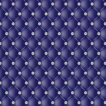 Elegant Navy Blue Diamond Tufted Look Upholstery Pattern by jollypockets