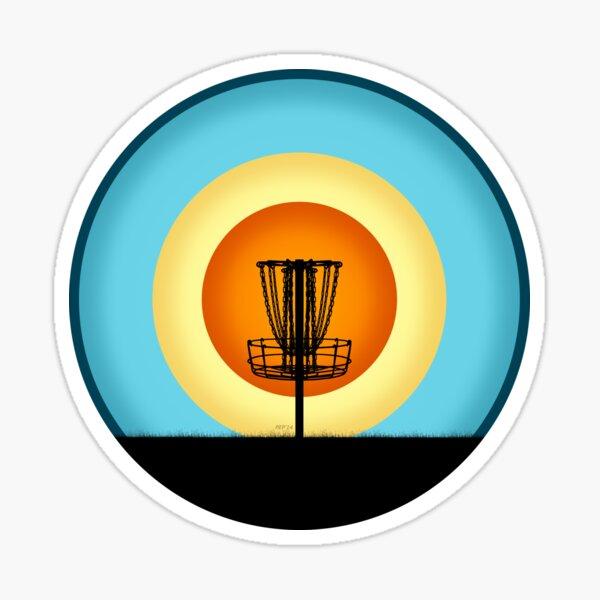 Colorful Disc Golf Basket Sticker