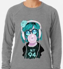 Chill Lofi Bubble Gum Lightweight Sweatshirt