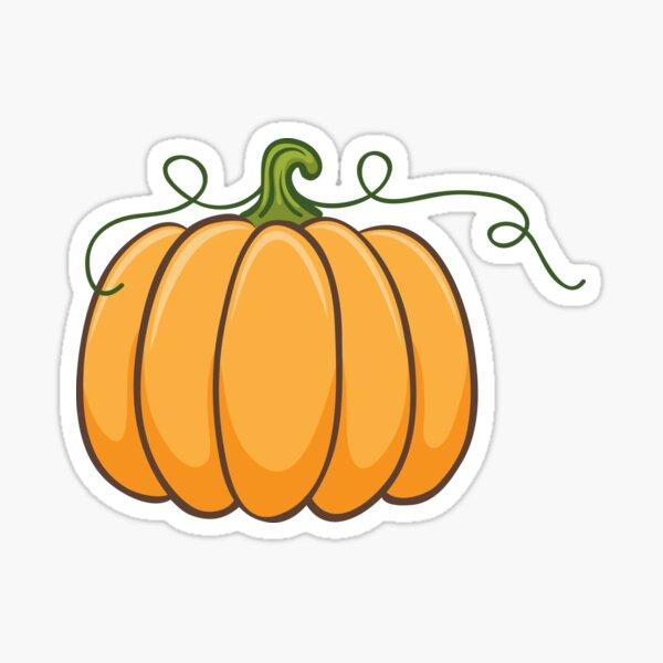 Pumpkin illustration sticker Sticker