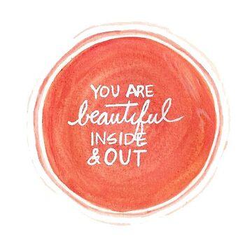 Eres bello en el interior y el exterior de stickersnstuff