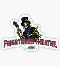 Official FRIGHTMARE THEATRE PODCAST LOGO Sticker