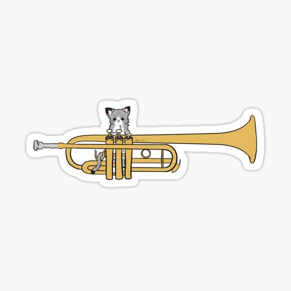 Trumpet Cat Sticker