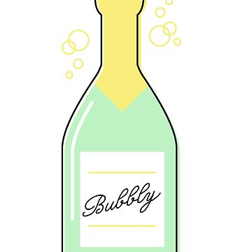 champán burbujeante de stickersnstuff
