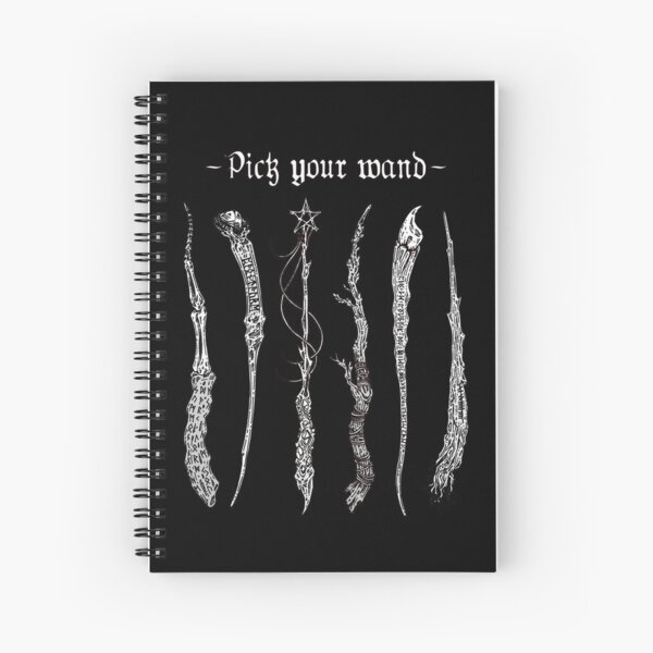 Choisis ta baguette - version black and white Cahier à spirale