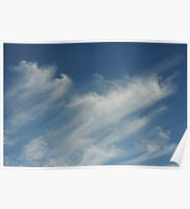 Moving cloud shapes Poster
