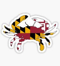 Maryland Flag Krabbe Sticker