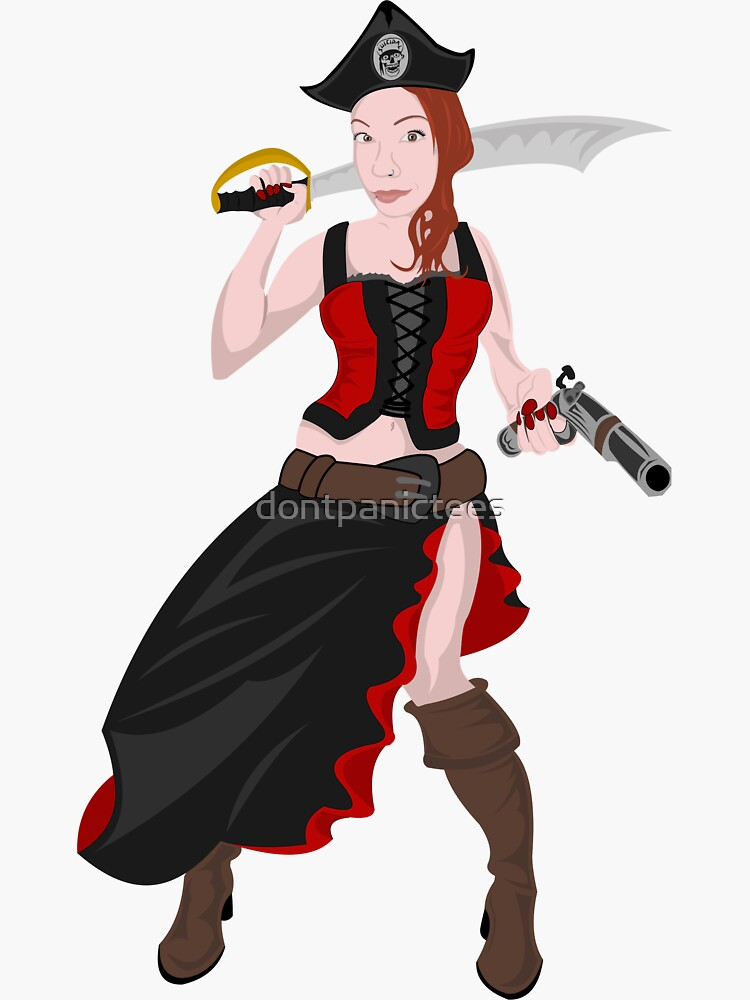 Kindra The Wicked Pirate  by dontpanictees