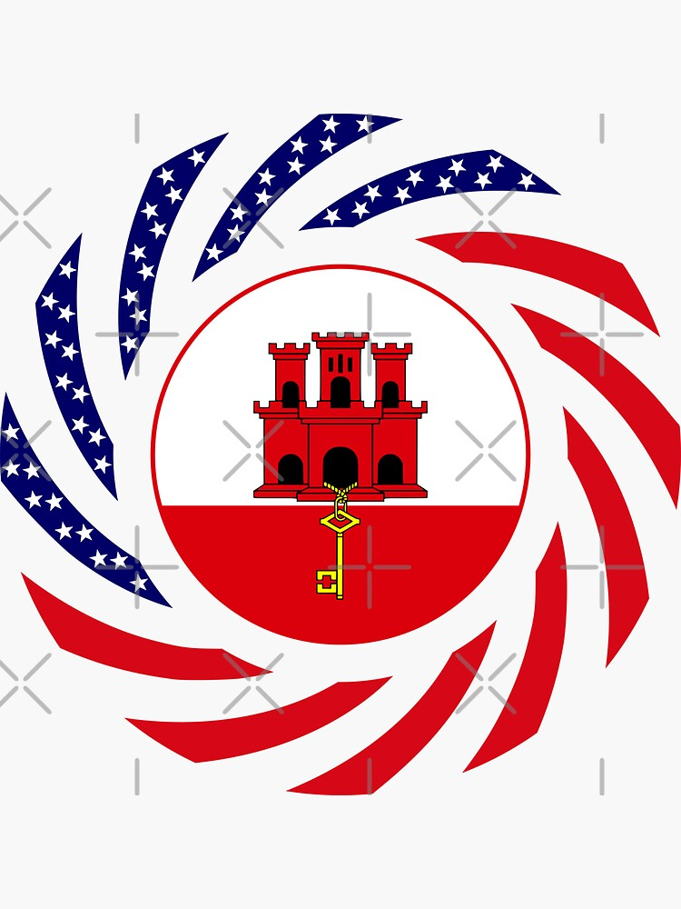 Gibraltarian American Multinational Patriot Flag Series by carbonfibreme
