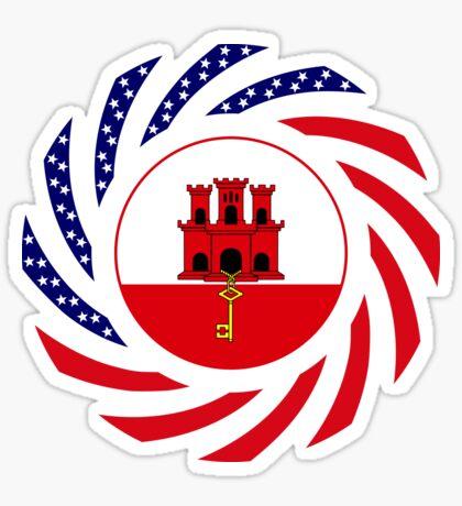 Gibraltarian American Multinational Patriot Flag Series Sticker