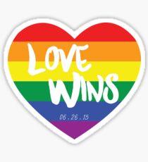 Liebe gewinnt Sticker