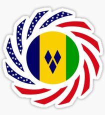 Saint Vincentian American Multinational Patriot Flag Series Sticker