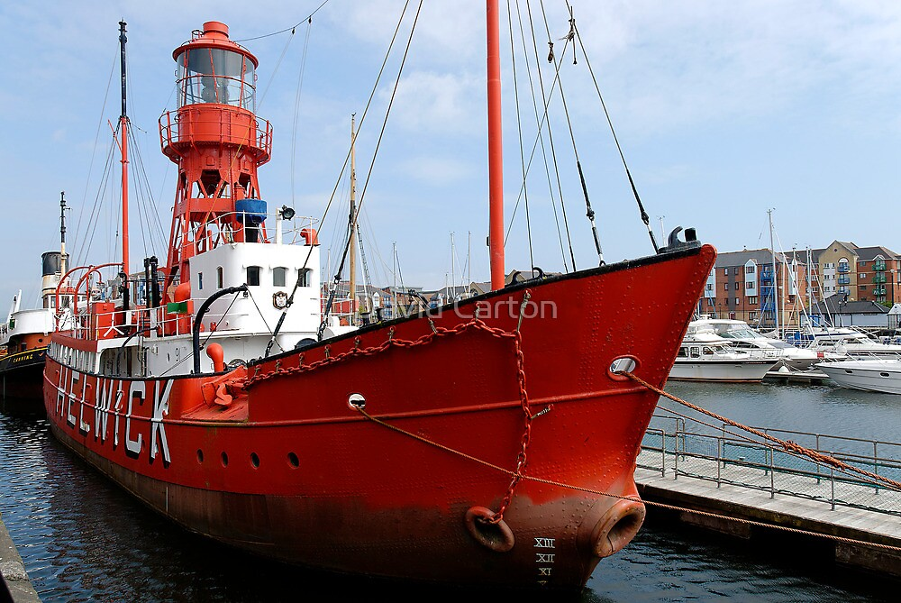 Lighthouse ship Helwick by David Carton