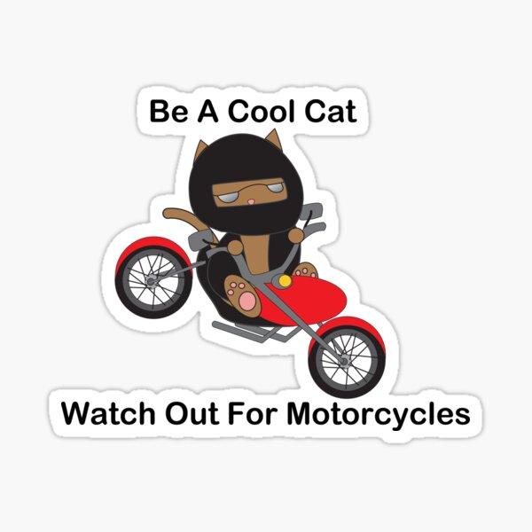 Motorcycle Biker Cat Sticker