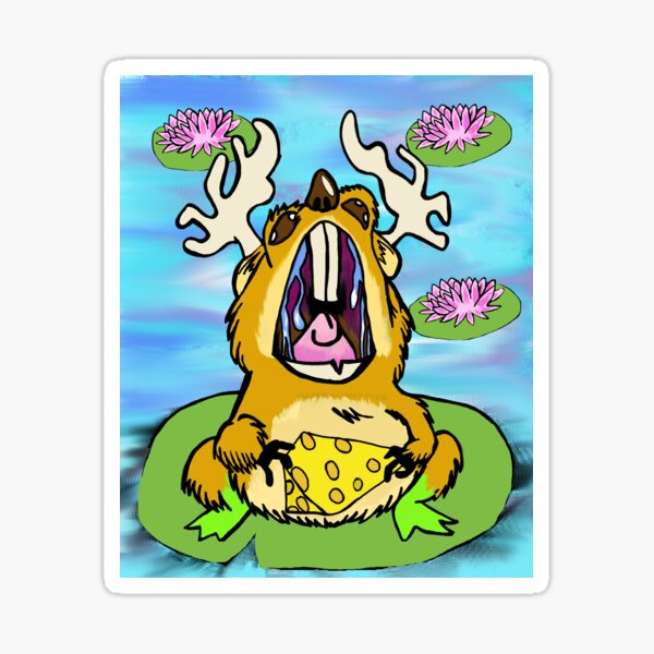 Hopping Moose Mouse Sticker