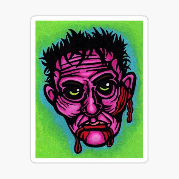 Pink Zombie Sticker