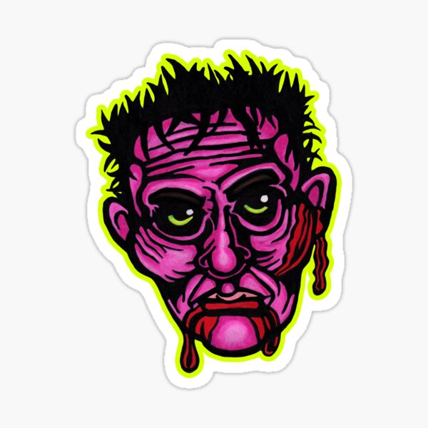 Pink Zombie - Die Cut Version Sticker