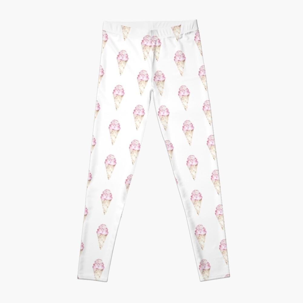 Pink Ice Cream Pattern Leggings
