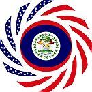Belizean American Multinational Patriot Flag Series by Carbon-Fibre Media