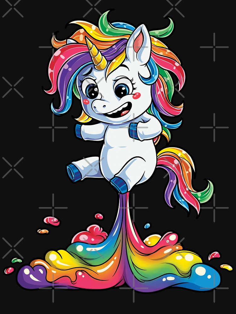 Unicornio Fart camiseta Squad Girls Kids Rainbow Party Regalos Camisetas Mujeres Hombres de LiqueGifts
