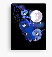 3 Luna Moon Canvas Print