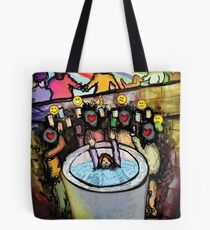 The Sins of Social Media Tote Bag