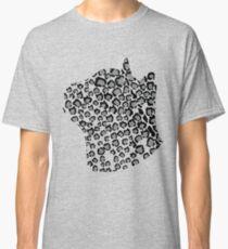Cats Head Snow Leopard Print in Grey Classic T-Shirt