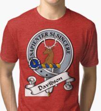 00052 Davidson Clan/Family Tartan  Tri-blend T-Shirt