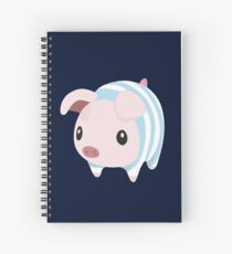 Poogie Piggie Monster Hunter Print Pj Pajama Spiral Notebook