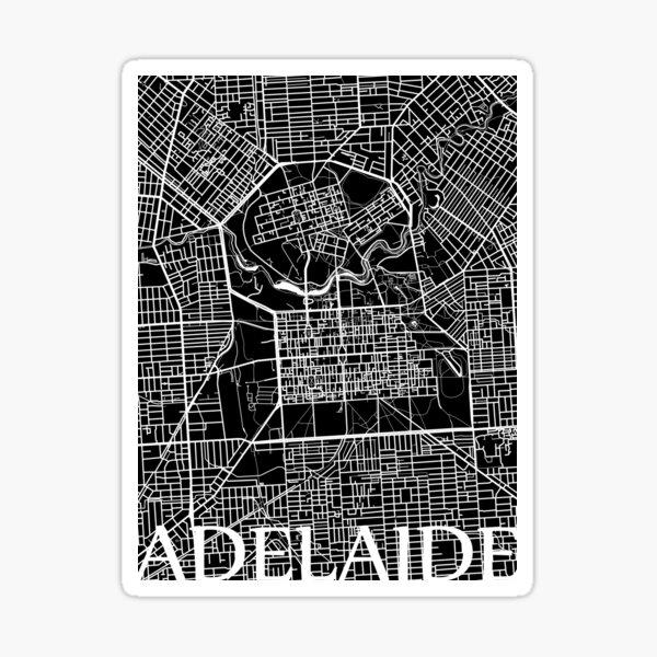 Adelaide (Black) Sticker
