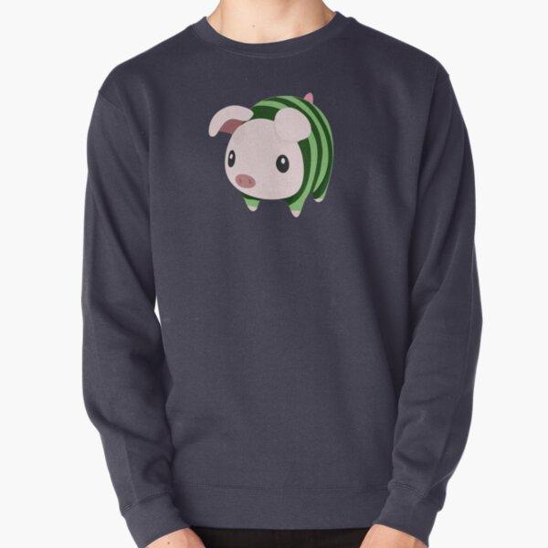 Poogie Piggie Monster Hunter Print pastèque Sweatshirt épais