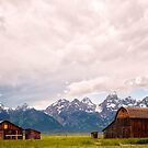 Barn and Teton Mountains by KellyHeaton