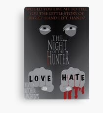 The Night of the Hunter Movie Poster  Canvas Print