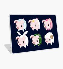 Poogie Piggie Monster Hunter Print all 6  Laptop Skin