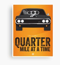 Cinema Obscura Series - The Fast & the Furious - Quarter Mile Canvas Print
